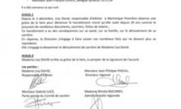 Lisa David/Martinique Première : Fin du conflit