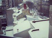 Neige sur Paris et ailleurs