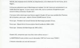 Municipales de 2014 en Martinique : Lettre ouverte à Claude Lise