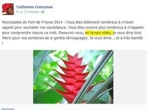 Municipales 2014 en #Martinique : Catherine...c'est fini et dire que c'était la ville de notre premier amour