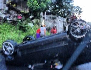 Accident spectaculaire à Fond Bernier en #Martinique