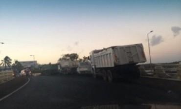 Blocage de la SARA par les transporteurs en #Martinique