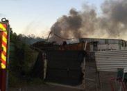 Incendie sur le site de #Metaldom en #Martinique