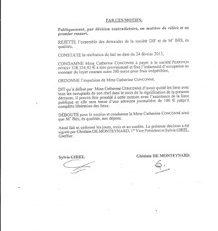 Catherine #Conconne condamnée à payer 328 324, 92 € à la société #PERRINON INVEST