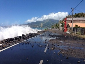Effets de la #houle au #Carbet en #Martinique
