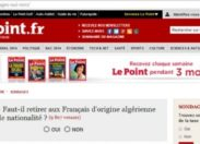 Le sondage puant du journal Le Point