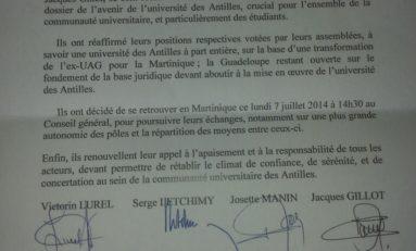 Quatre signatures et une #Université
