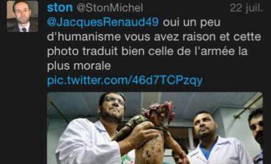 Le vrai visage infecte de Jacques #Renaud adjoint au maire de Montreuil-juigné sur #Twitter