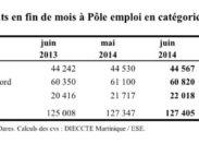 DEMANDEURS D'EMPLOI AUX ANTILLES-GUYANE EN JUIN 2014