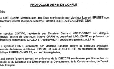 Fin du conflit à la #SME en #Martinique