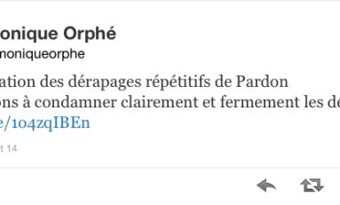 Condamnation des dérapages répétitifs de #Pardon