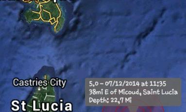 La terre a tremblé en Martinique - 7 décembre 2014