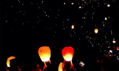 Lâché de lanternes à Saint-Gilles à l'île de La #Réunion