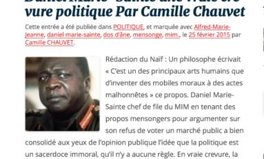 """Camille #Chauvet """"historien"""" originaire de #Martinique est-il négrophobe ?"""