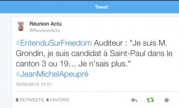 Le tweet du jour (18/03/15) #departementales2015 #lareunion