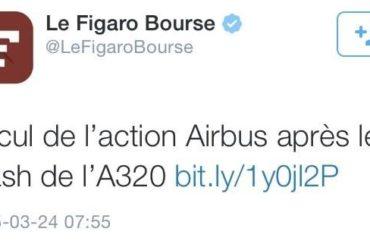 Le tweet du jour (24/03/15) #crash #airbusA320 #A320