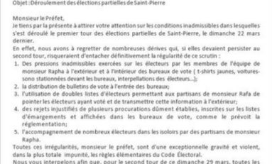 Municipales de Saint-Pierre en #Martinique : missive in a battle
