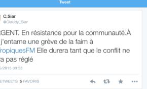 9:00, ce jour, Claudy #Siar entame une grève de la faim dans les locaux de #TropiquesFM