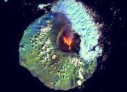 L'éruption du Piton de la Fournaise vue du ciel