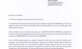 La lettre de démission officielle de Catherine Conconne