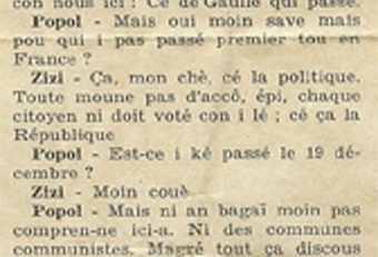 L'autonomie, l'indépendance et l'église catholique en Martinique