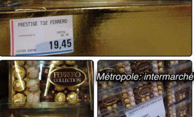 Cho cacao...cho cho cho chocolat si Hyper U pa ni vaseline bonda nou tout ké Ferrero...
