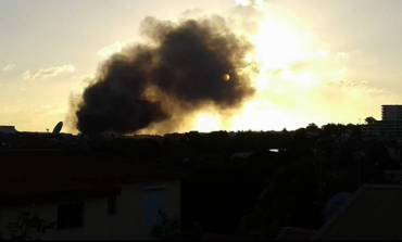 Important incendie à la zone de la Jambette en Martinique