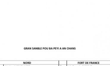 Collectivité Territoriale de Martinique : Gran Sanblé Pou Ba Péyi A An Chans