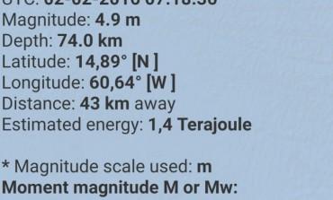 Tremblement de terre en Martinique
