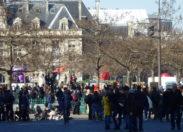 Manifestation étudiante à Paris contre la loi Travail
