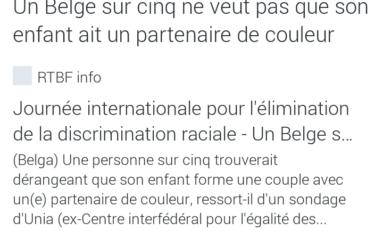 Je suis un partenaire de couleur...pourtant la vie est belge
