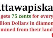 Les Indiens touchent 75 cents pour 1 million $ de diamants de leur terre