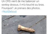 #NuitDebout : faute de matraque. ..ma trique