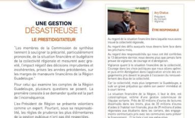Quelle est la situation financière réelle de la Région  Guadeloupe ?