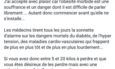 "Chantal Maignan va t-elle vaincre l'obésité ""More -Bide"" après les algues sarcasmes ?"
