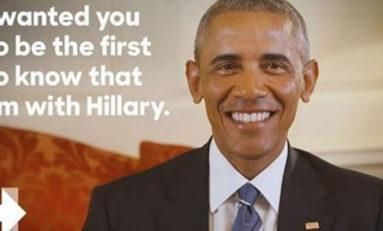 Officiel : Obama pour Hillary Clinton (vidéo)