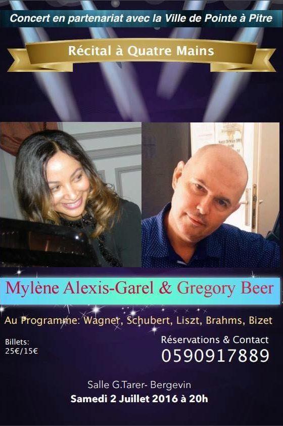 Concert classique, Mylène ALEXIS GAREL et Gregory BEER. (Sam 2 juillet – Bergevin)