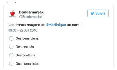 Les francs-maçons en #Martinique ce sont ... (sondage)