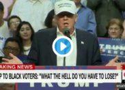 """USA - Trump aux Noirs : """"Vous n'avez rien à perdre, vous êtes des pauvres"""""""