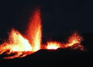 Le feu d'artifice du Piton de la Fournaise