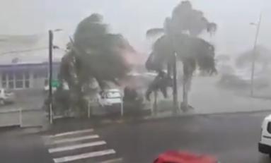 La tempête tropicale Matthew au Marin en Martinique