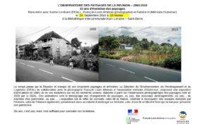 Bibliothèque intercommunale Alain Lorraine : L'observatoire des paysages de La Réunion – 2003-2015 - Journées Européennes du Patrimoine à la Réunion