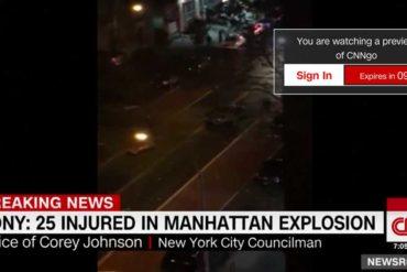 Explosion à New-York : 25 blessés