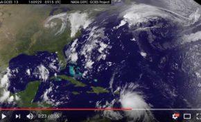 La naissance du cyclone Matthew en vidéo