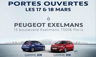 PORTES OUVERTES PEUGEOT à Paris Exelmans Automobiles