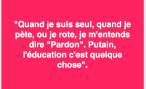 La phrase du jour 07/03/17 - Education