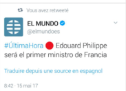La surprise du jour - France - Edouard Philippe