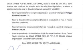 Législatives 2017 en Martinique : Alfred Marie-Jeanne appelle à voter Philippe Edmond-Mariette au second tour