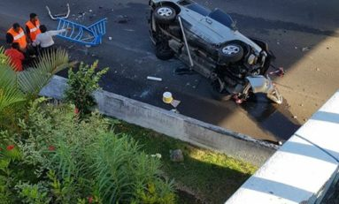 Spectaculaire accident de la route à Fort-de-France en Martinique