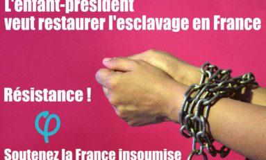 En 1802 Napoléon remet des français noirs en esclavage...en 2017 Mélenchon and co pérennisent l'imagerie de ce crime contre l'humanité
